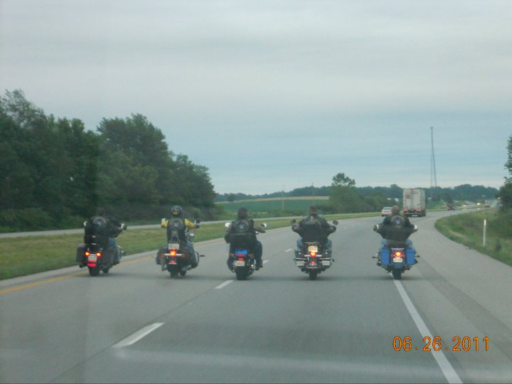 Bacc PC's version of riding single file